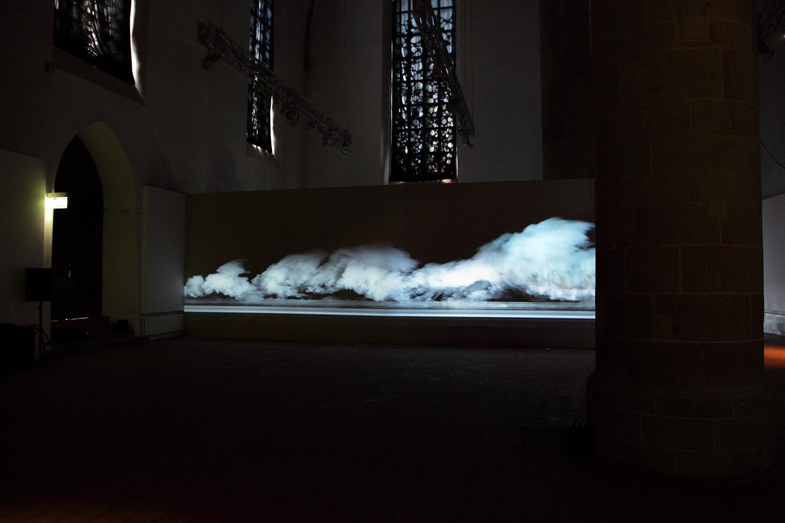 CLUSTER – Videoinstallation Kunsthalle Dominikanerkirche – EMAF Osnabrück 2011